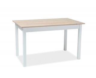 Rozkladací jedálenský stôl Horacy - dub / biela