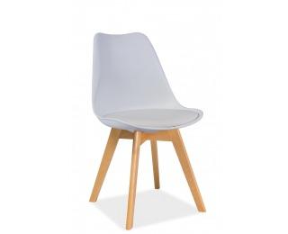 Jedálenská stolička Kris Buk - biela / buk