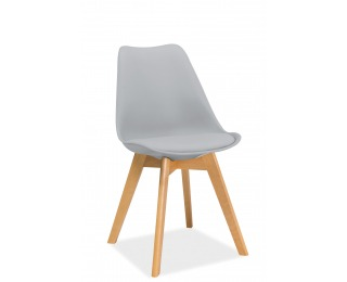 Jedálenská stolička Kris Buk - svetlosivá / buk