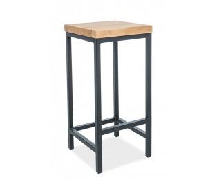 Barová stolička Metro - dub / čierna