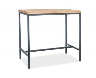 Barový stôl Metro - dub / čierna