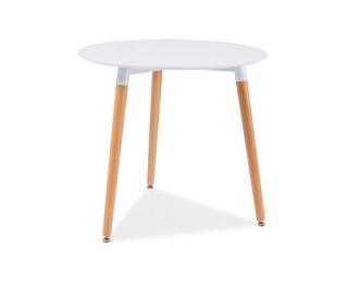 Okrúhly jedálenský stôl Nolan III - biela