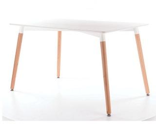 Jedálenský stôl Nolan - drevo / biela MDF