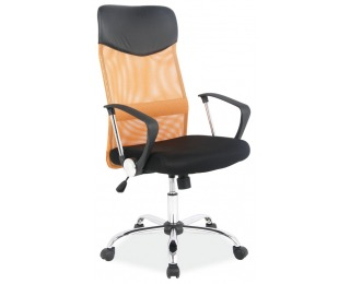 Kancelárske kreslo Q-025 - čierna / oranžová