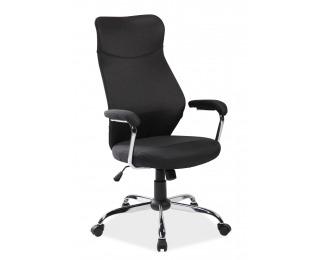 Kancelárska stolička s podrúčkami Q-319 - čierna