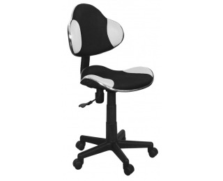 Kancelárska stolička Q-G2 - biela / čierna