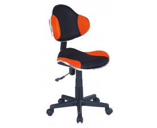 Kancelárska stolička Q-G2 - oranžová / čierna