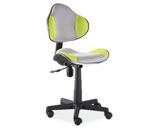 Kancelárska stolička Q-G2 - zelená / sivá