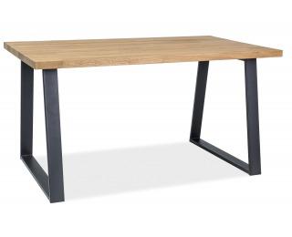 Jedálenský stôl Ronaldo - dub / čierna