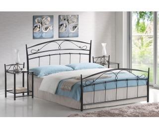 Kovová manželská posteľ s roštom Siena 160 - čierna