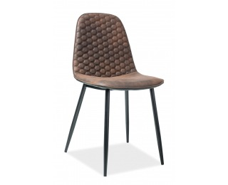 Jedálenská stolička Teo D - hnedá / čierna / čierna matná