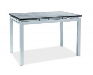Rozkladací jedálenský stôl Turin - čierna / biela