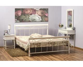 Rustikálna manželská posteľ s roštom Venecja 160 - biela
