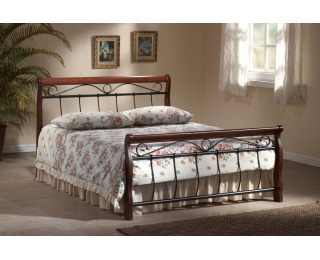 Rustikálna manželská posteľ s roštom Venecja 180 - čerešna antická