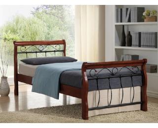 Rustikálna jednolôžková posteľ s roštom Venecja BIS 90 - čerešna antická
