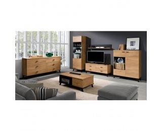 Obývacia izba Siran - dub lefkas / čierna