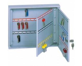 Kovová skrinka na kľúče s dvojitými dverami SK120/2Z - svetlosivá