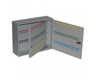 Kovová skrinka na kľúče s dvojitými dverami SK120 - svetlosivá