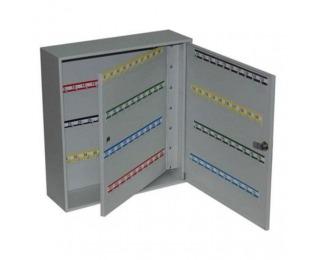 Kovová skrinka na kľúče s dvojitými dverami SK160 - svetlosivá