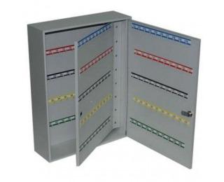 Kovová skrinka na kľúče s dvojitými dverami SK200 - svetlosivá