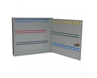 Kovová skrinka na kľúče s pevnými háčikmi SK60 - svetlosivá