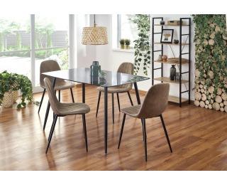 Sklenený jedálenský stôl Next - dymová / čierna
