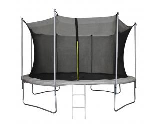 Trampolína Skyper 366 cm - čierna / sivá