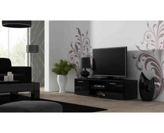 TV stolík Soho 140 - čierna / čierny lesk