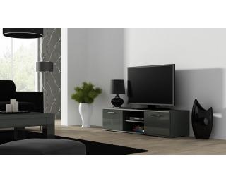 TV stolík Soho 140 - sivá / sivý lesk
