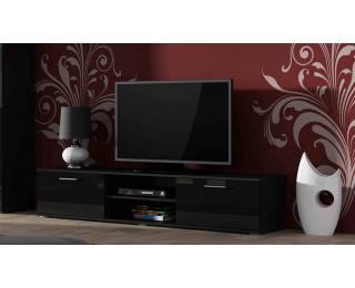 TV stolík Soho 180 - čierna / čierny lesk