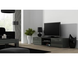 TV stolík Soho 180 - sivá / sivý lesk