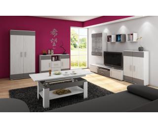 Obývacia izba Solar - craft biely / grafit