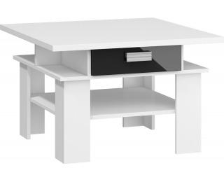 Konferenčný stolík Solo SOL-03 - biela / čierny lesk