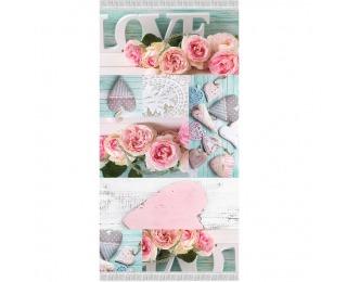 Koberec Sonil Typ 2 160x230 cm - kombinácia farieb / vzor ruže