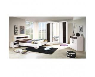 Spálňa Rublin - biela / čierna