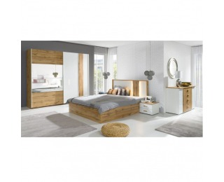 Spálňa Vodena - dub wotan / biela