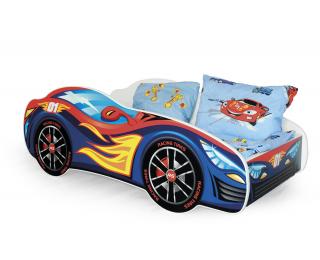Detská posteľ s roštom a matracom Speed - kombinácia farieb