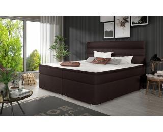 Čalúnená manželská posteľ s úložným priestorom Spezia 140 - tmavohnedá