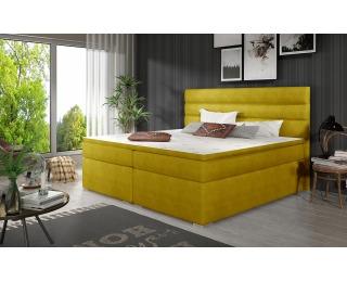 Čalúnená manželská posteľ s úložným priestorom Spezia 140 - žltá