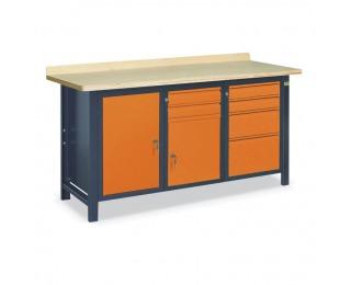 Pracovný stôl SS02L/ACE - grafit / oranžová