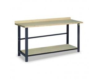 Pracovný stôl s jednou policou SS02L/PL135 - grafit