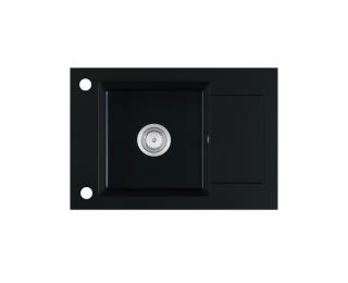 Granitový kuchynský drez Stema 61,5x43,5 cm - čierna