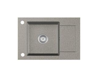 Granitový kuchynský drez Stema 61,5x43,5 cm - sivá