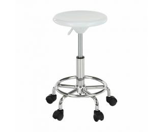 Stolička na kolieskach Mabel 3 New - biela / chróm