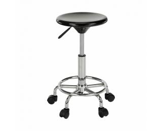 Stolička na kolieskach Mabel 3 New - čierna / chróm