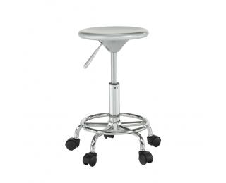 Stolička na kolieskach Mabel 3 New - strieborná / chróm