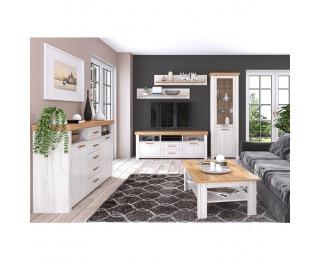 Obývacia izba Sudbury - dub craft zlatý / dub craft biely