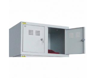 Nadstavba k šatňovej skrini s dvoma komorami SU 300-02 - svetlosivá