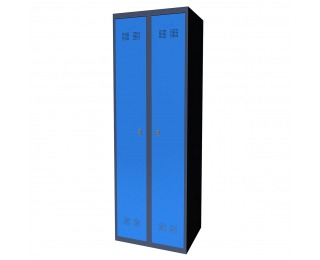 Kovová šatňová skriňa SUPE 300-02 - grafit / modrá