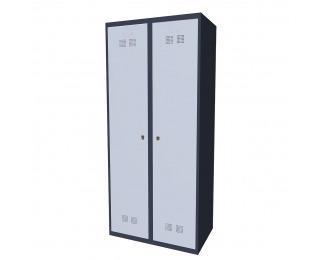 Kovová šatňová skriňa SUPE 400-02 7024/7035 - grafit / svetlosivá
